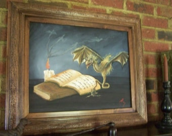 Signed Painting of Midnight conjuring ,by Penny Parker