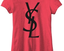 Ladies Letters YSL Tshirt