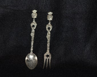 Montagnani Italian Fork & Spoon 1940s