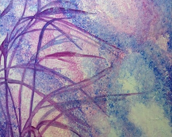 Violet Shadow. Original Acrylic Painting. Abstract
