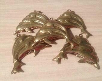 Bronze Finding-Bronze jewellery Dangles-Handmade dolphin Bronze Finding