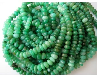 Chrysoprase Rondelle, Chrysoprase Beads, Shaded Chrysoprase, Rondelle Beads, 8mm Beads, Half Strand 8 Inches, 46 Pieces