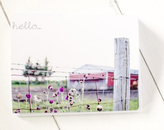 Hello Greeting Cards/ Barn / Set of 6