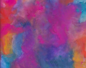 """Printable Abstract Watercolor Downloadable Wall Art Multicolor  8x10"""""""