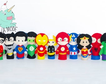 Superhero Finger Puppets