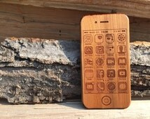 Wooden Teether - Wooden IPhone 4S Toy - Wooden IPhone - IPhone Teether - Wood IPhone