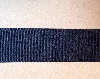 7/8 inch Black Grosgrain Ribbon