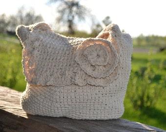 Crochet Flower Bag, summer shoulder bag