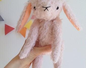 natural mohair bunny. Free shipping.