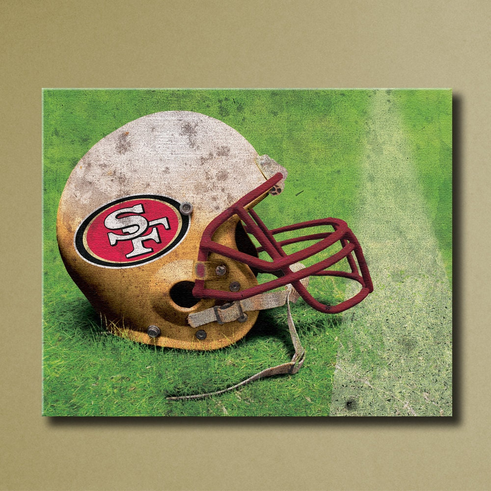 San francisco 49ers canvas wall art grunge by sportscorner for 49ers wall mural