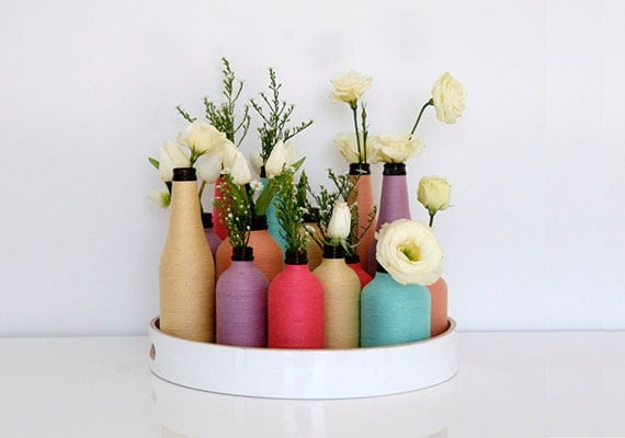 Flower vases from Colour & Twine