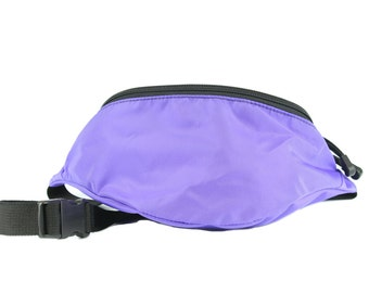 Fanny pack Lavender Purple Nylon  - Hip Bag with 2 zippered compartments