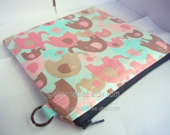 sale Elephant cosmetic bag | toiletry pouch | travel organizer | gift for her | clutch | padded zippy case | id1340808 | 16cm x 16cm