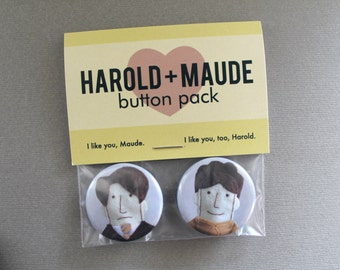 Harold and Maude Pinback Button Pack