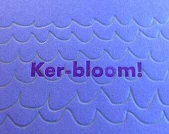 Kerbloom letterpress zine issue 111 - birthday week