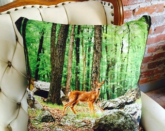 The Forest Dweller Throw Pillow