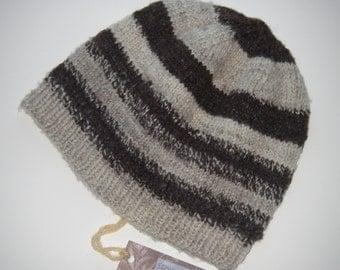 Handspun Handknit Wool Hat