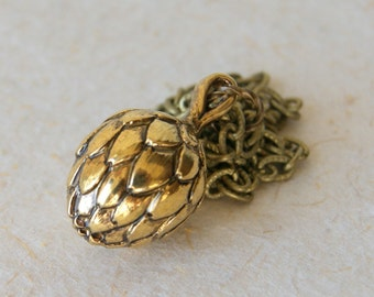Artichoke Necklace - Gold Artichoke Necklace - garden inspired - boho chic