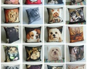 Custom Pet Photo Pillow, Custom Pet Art, Dog Lover Gift, Birthday Gift, Personalized Dog Pillow, Custom Pet Pillow Cover