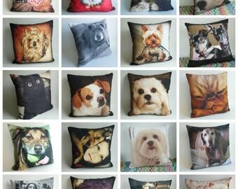 Custom Pet Photo Pillow, Custom Pet Art, Dog Lover Gift, Birthday Gift, Personalized Dog Pillow, Custom Pet Pillow Cover
