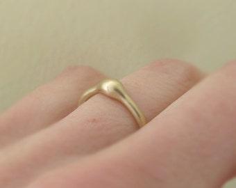 Rain Engagement Ring in 14k Yellow Gold - Stoneless Engagement Ring