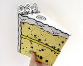 SALE - Lemon Cake - Papier Mache Sculpture