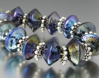 KILLERBEEDZ1 - Psyche Sparklers - 6 Lampwork Beads