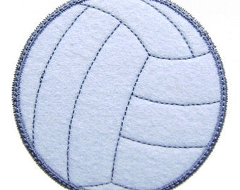 Volleyball Applique Volley Ball Machine Embroidery Design Instant Download