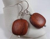 Bayong Wood Drops - Sterling Silver and Wood Earrings