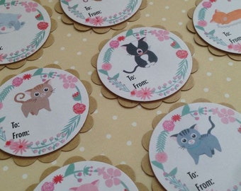 Cats Tags Pack of 10