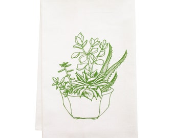 NEW plant organic tea towel