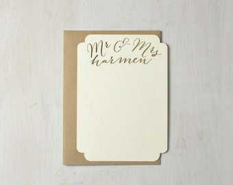 Laser Cut Personalized Stationery: free shipping