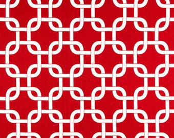 Premier Prints Gotcha Lipstick Red White Home Decorating Fabric By The Yard