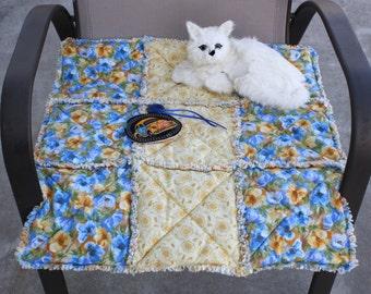 Catnip Blanket, Travel Pet Mat, Catnip Mat, Luxury Cat Blanket, Cat Bed, Cat Quilt, Quilt for Cats, Pet Mat, Small Dog Bed, Fabric Cat Bed