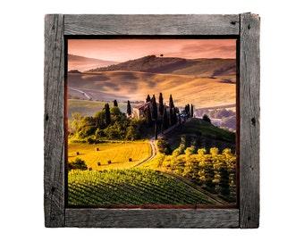 Tuscan Vineyard - Rustic Windowscape Series - Wall Decal