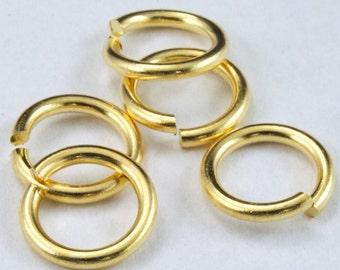 8mm Matte Gold 18 Gauge Jump Rings #RJF028