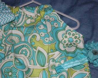 Girls Pillowcase Dress Size 4T Ready to ship for Easter Spring or Summer