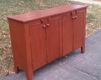 Four Door Console Cabinet