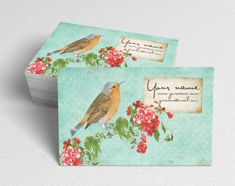 Business Cards  Custom Business Cards  Personalized Business Cards  Business Card Template  Vintage Business Cards  Bird Business Card V4