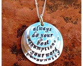 Don Miguel Ruiz's The Four Agreements Stamped Sterling Silver Layered Necklace