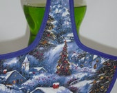 Fabric Has Sparkles Christmas Tree Contry Winter Home Kitchen Decor  Dish Soap Bottle Apron Cover Party Favor Staffer Lg