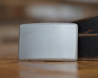 Brushed Recession Belt Buckle by Fosterweld