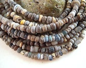 TINY Glass Excavation African Trade Beads, 1x3mm, 4x5mm, Antique Glass Seed Beads, Ancient Artifact Beads, 600 Years Old, Africa EX02