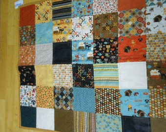 Patchwork squares baby quilt