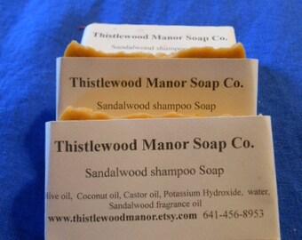 Sandalwood shampoo and body soap