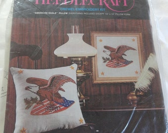 Vintage AVON Creative Needlecraft American Eagle Kit for Embroidery Pillow