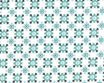 SALE - Daysail - Harbor in Creamy White: sku 55103-14 cotton quilting fabric by Bonnie and Camille for Moda Fabrics - 1 yard