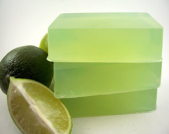 Lime Soap, All Natural Essential Oil Lime Soap