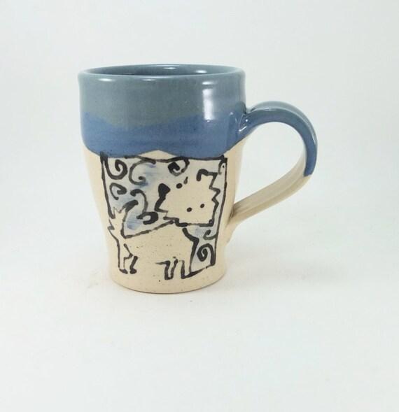 wolf and moon mug