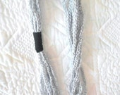 Crocheted Chain Scarf- Grey, Black and Fun - Makes a Great Gift - Perfect for Summer or Spring - Great for teens and young adults